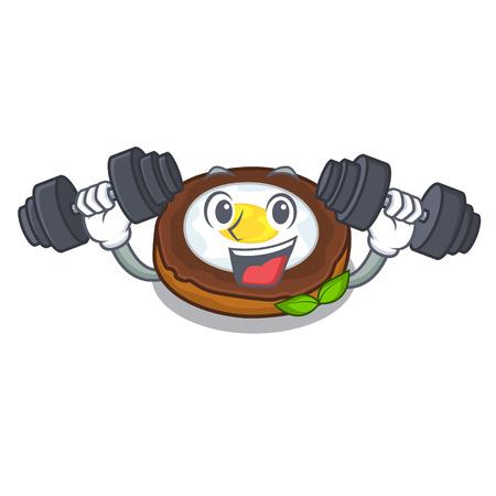 Fitness egg scotch cartoons are ready served