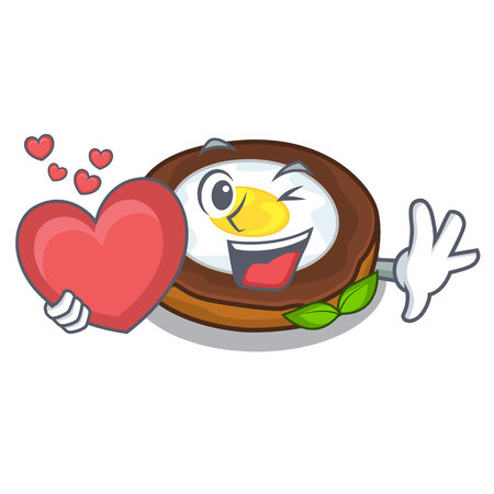 With heart egg scotch on character wood boards