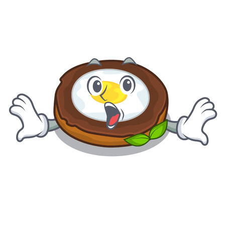 Surprised egg scotch on character wood boards