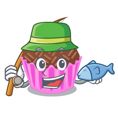 Fishing bragadeiro presented in the character jar vector illustartion Vectores