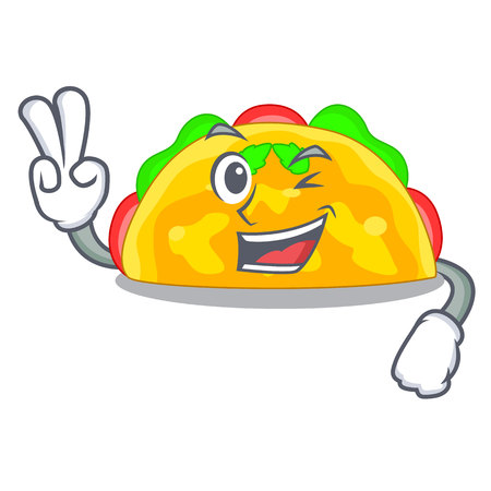 Two finger omelette is fried on character plate Illustration