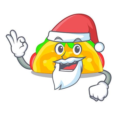 Santa omelatte fried isolated on the mascot vector illustration Illustration