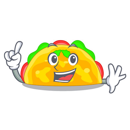 Finger omelatte fried isolated on the mascot vector illustration