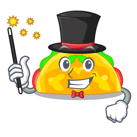 Magician omelatte fried isolated on the mascot vector illustration