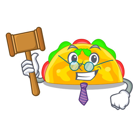 Judge omelatte fried isolated on the mascot vector illustration Ilustração