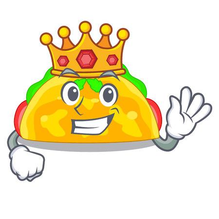 King omelatte fried isolated on the mascot vector illustration Illustration
