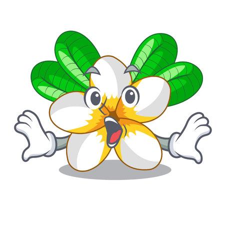 Surprised frangipani flower in the cartoon tree vector illustration Stock Vector - 126499037