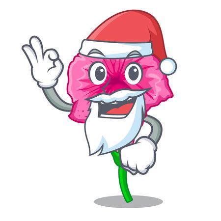 Santa petunia in a mascot flower basket vector illustration