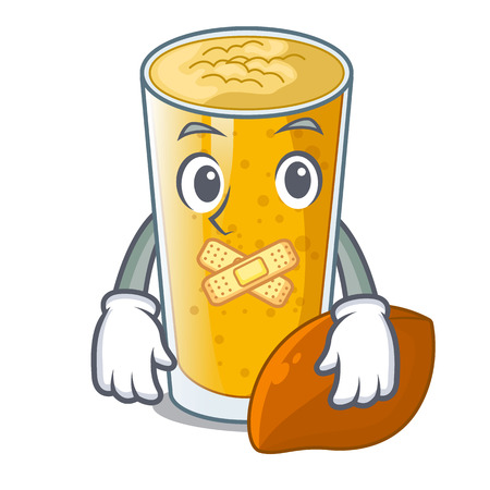 Silent lassi mango in the character fridge vector illustartion Ilustração