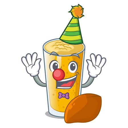 Clown lassi mango in the character fridge vector illustartion Ilustração