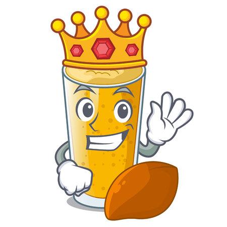 King lassi mango in the character fridge vector illustartion Ilustração