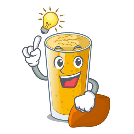 Have an idea lassi mango in the character fridge vector illustartion