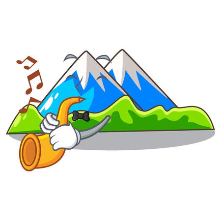 mountain scenery isolated from the mascot vector ilustration