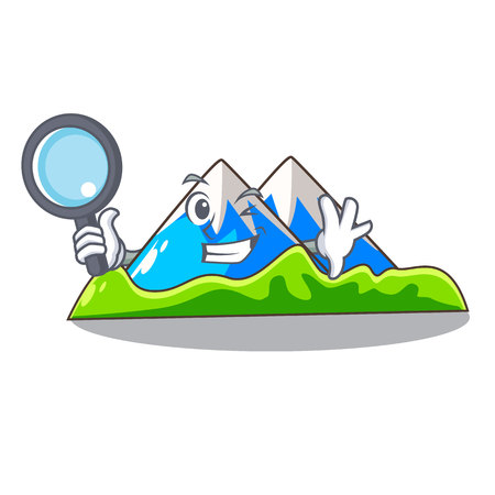Detective miniature mountain in the character form