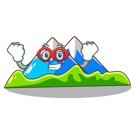 Super hero miniature mountain in the character form Illustration