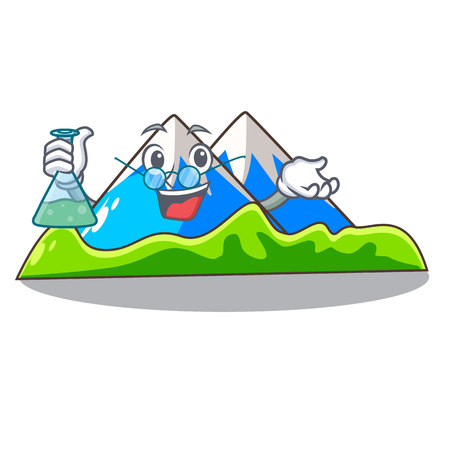 Professor miniature mountain in the character form vector illustration