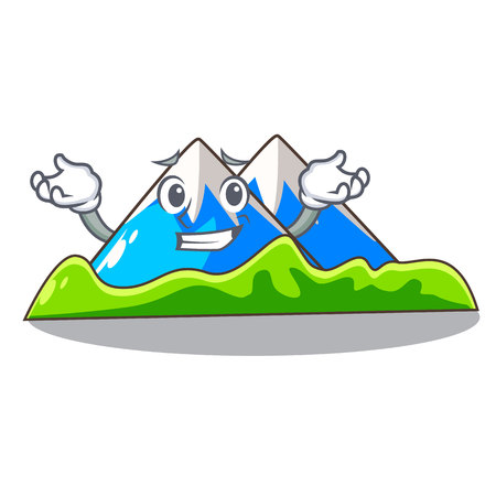 Grinning miniature mountain in the character form vector illustration