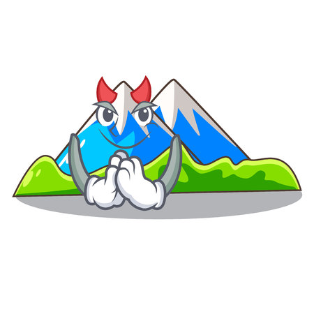 Devil mountain scenery isolated from the mascot vector ilustration