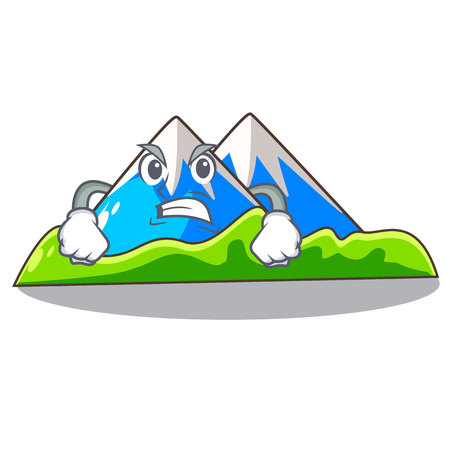 Angry mountain scenery isolated from the mascot vector ilustration Ilustração
