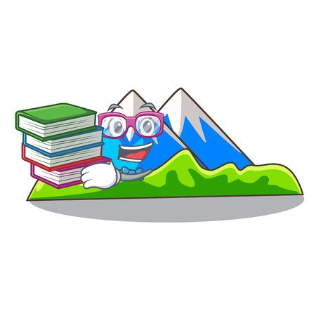 Student with book mountain cartoon images are very beautiful vector illustration Vectores