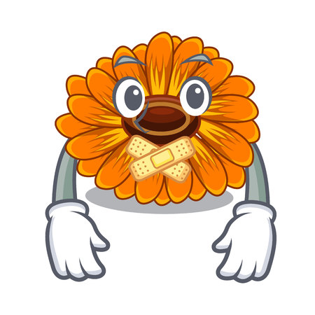 Silent calendula flower tree is character shape