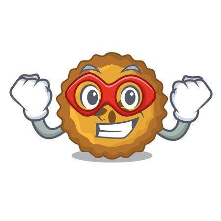 Super hero apple pie on a cartoon table