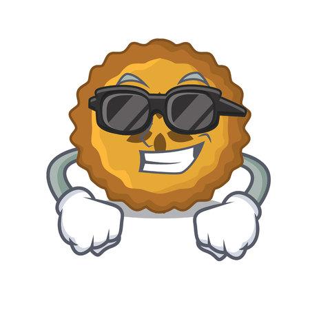 super cool apple pie on a cartoon table vector illustration