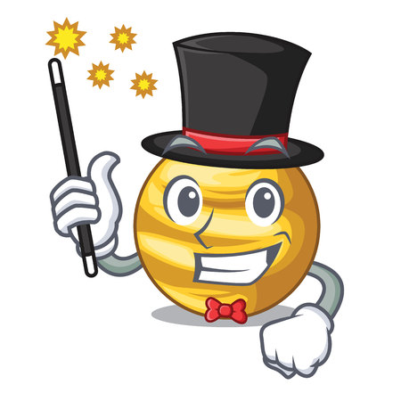 Magician planet venus isolated with on mascot vector illustration