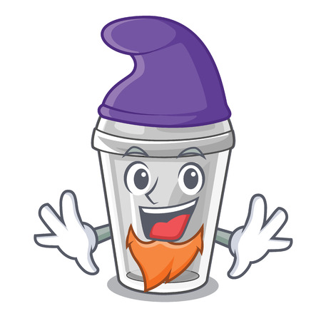 Elf plastic cup in the cartoon form vector illustration