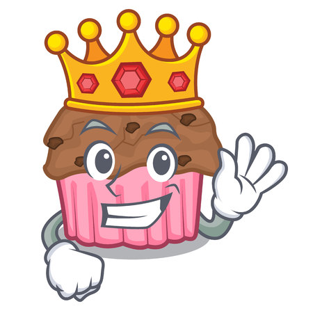 King chocolate muffins on a mascot plate