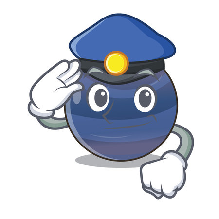 Police planet neptune in the shape character Vettoriali