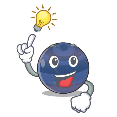 Have an idea picture neptune planet in cartoon form vector illustration