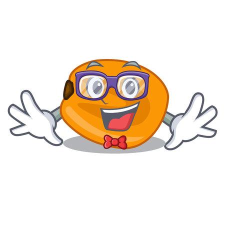 Geek corn nuts are on mascot plate vector illustration Ilustracje wektorowe