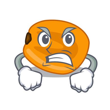Angry eat corn nuts in cartoon shape vector illustration Illustration