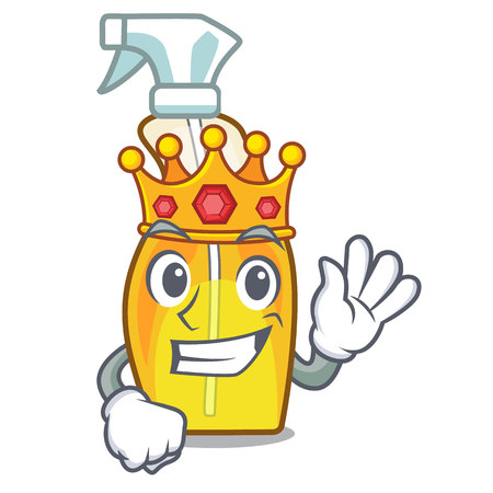 King spray bottles are isolated from cartoons vector illustration