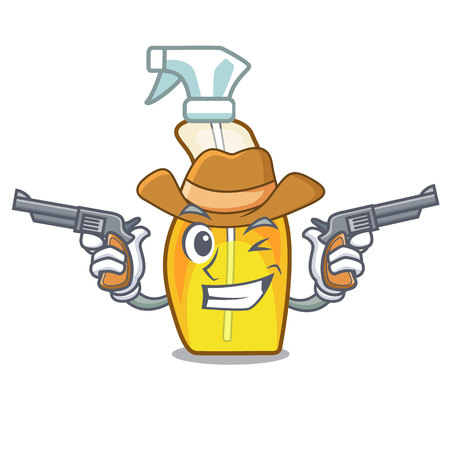 Cowboy bottle spray in the character form