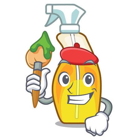 Artist bottle spray in the character form vector illustration