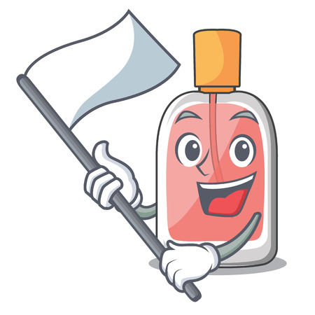 With flag perfume bottle isolated in the mascot vector illustration Illustration