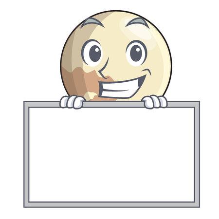 Grinsen mit Bordplanet Pluto in der Zeichentrickform