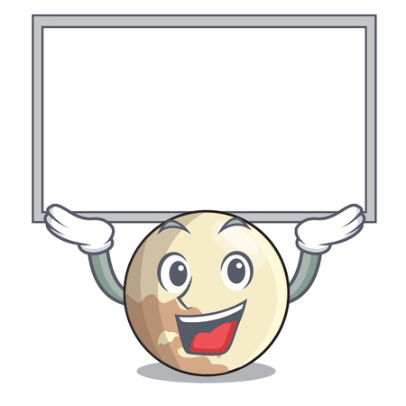 Up board planet pluto in the cartoon form