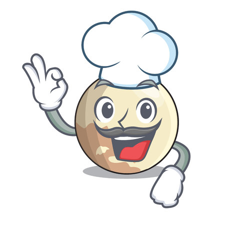 Chef image of planet pluto in character vector, illustration 向量圖像