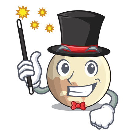 Magician Pluto planet isolated in with mascot vector illustration 免版税图像 - 126239198