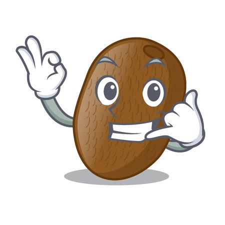 Call me kiwifruit is placed on mascot plate vector illustration 向量圖像