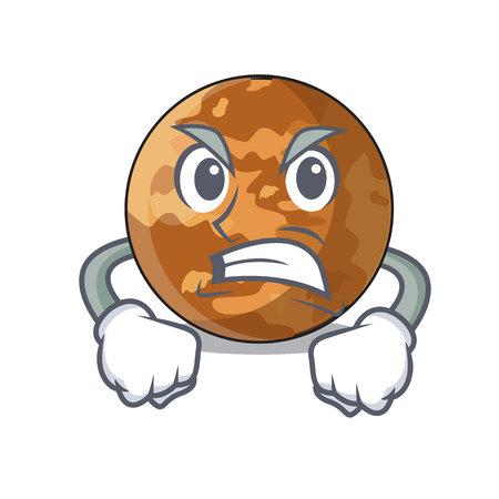 Wütender Planet Quecksilberform im Charakter Vektorgrafik