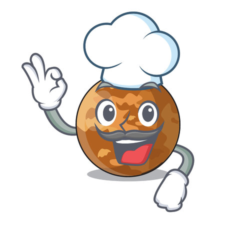 Chef picture of a cartoon mercury planet vector illustration 向量圖像