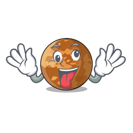Crazy plenet mercury isolated in a mascot vector illustration