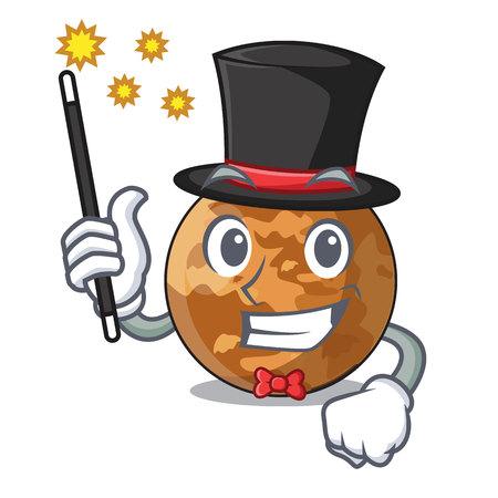 Magician plenet mercury isolated in a mascot vector illustration