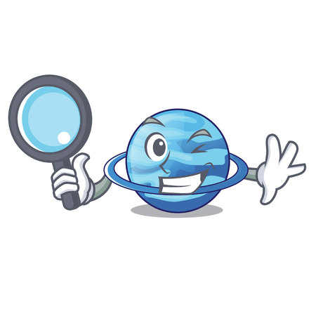 Detective Uranus plenet is isolated on mascot Banque d'images - 115265538