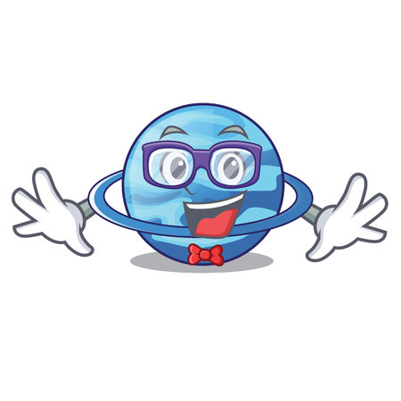 Geek uranius plenet is isolated on mascot vector illustration
