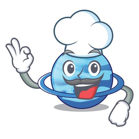 Chef uranius plenet is isolated on mascot vector illustration 向量圖像